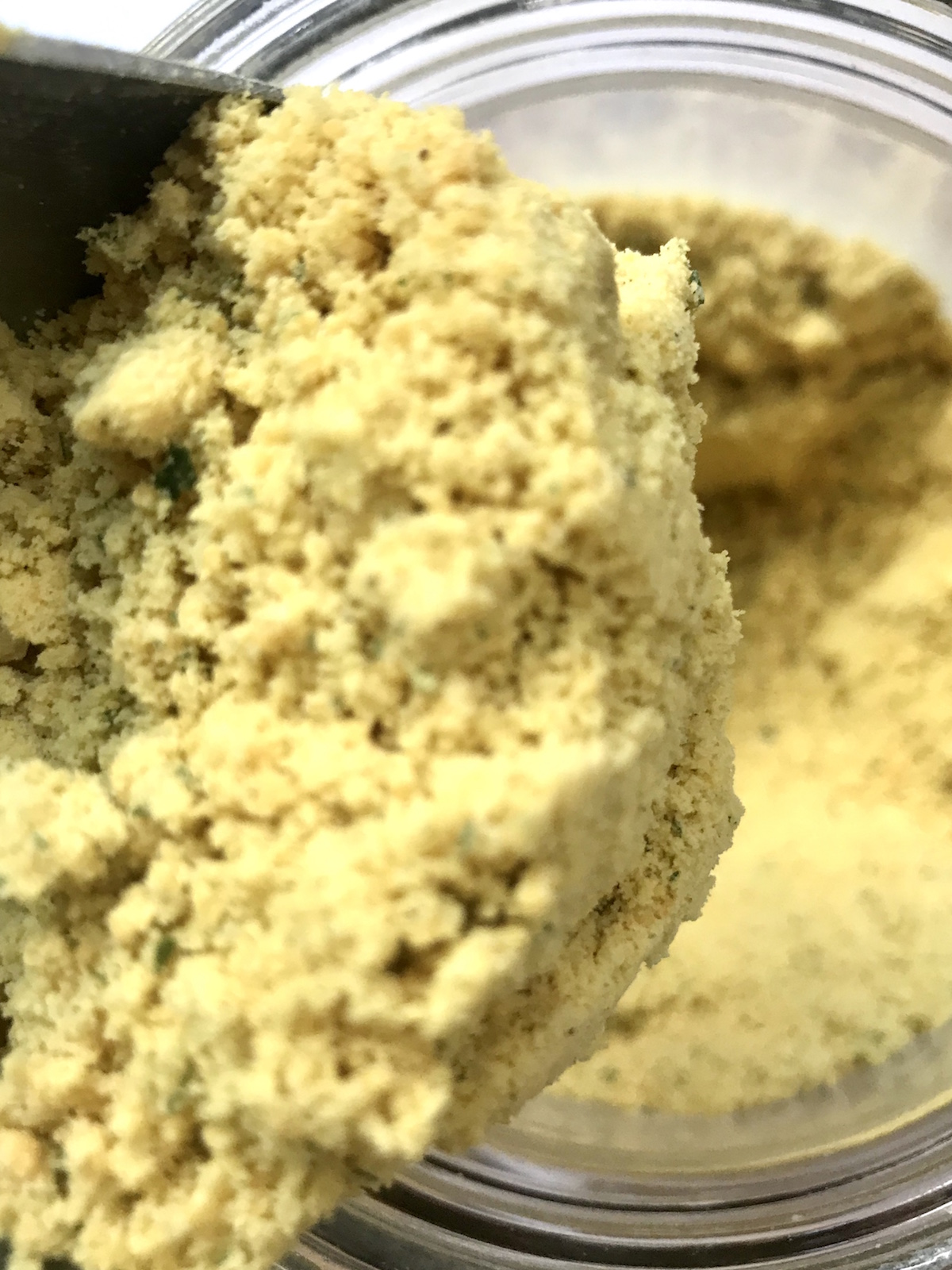 Image of a jar of bouillon stock powder, in bulk ready for your own containers