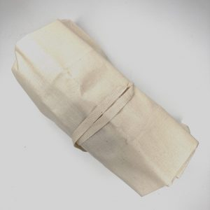 This is an image of the Forever Last unbleached cotton calico reusable bread bag.