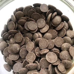 Image of a jar of rich chocolate drops