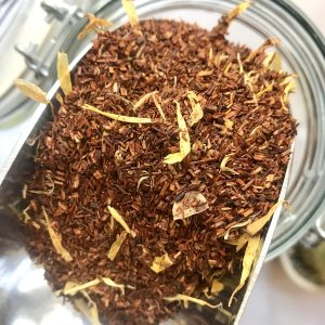 Image of a jar of Rooibos tea in bulk, ready for your own containers