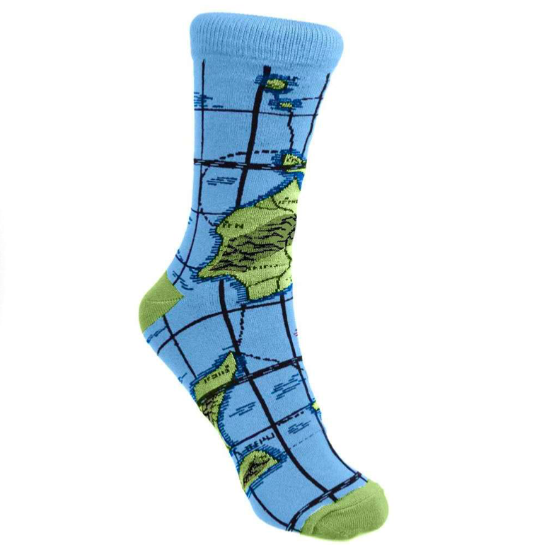 Product image of Fair Trade, sustainable bamboo sock, Each Map print