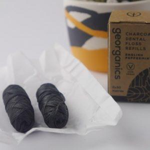 Product image of georganics charcoal dental floss refills