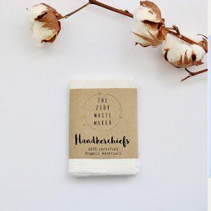 Product image of zero waste reusable cotton handkerchiefs