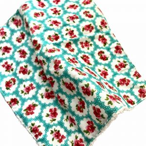 Product image for a Handmade Rascals hand wipe, flower pattern