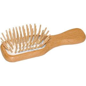 Product image for travel size wooden hairbrush