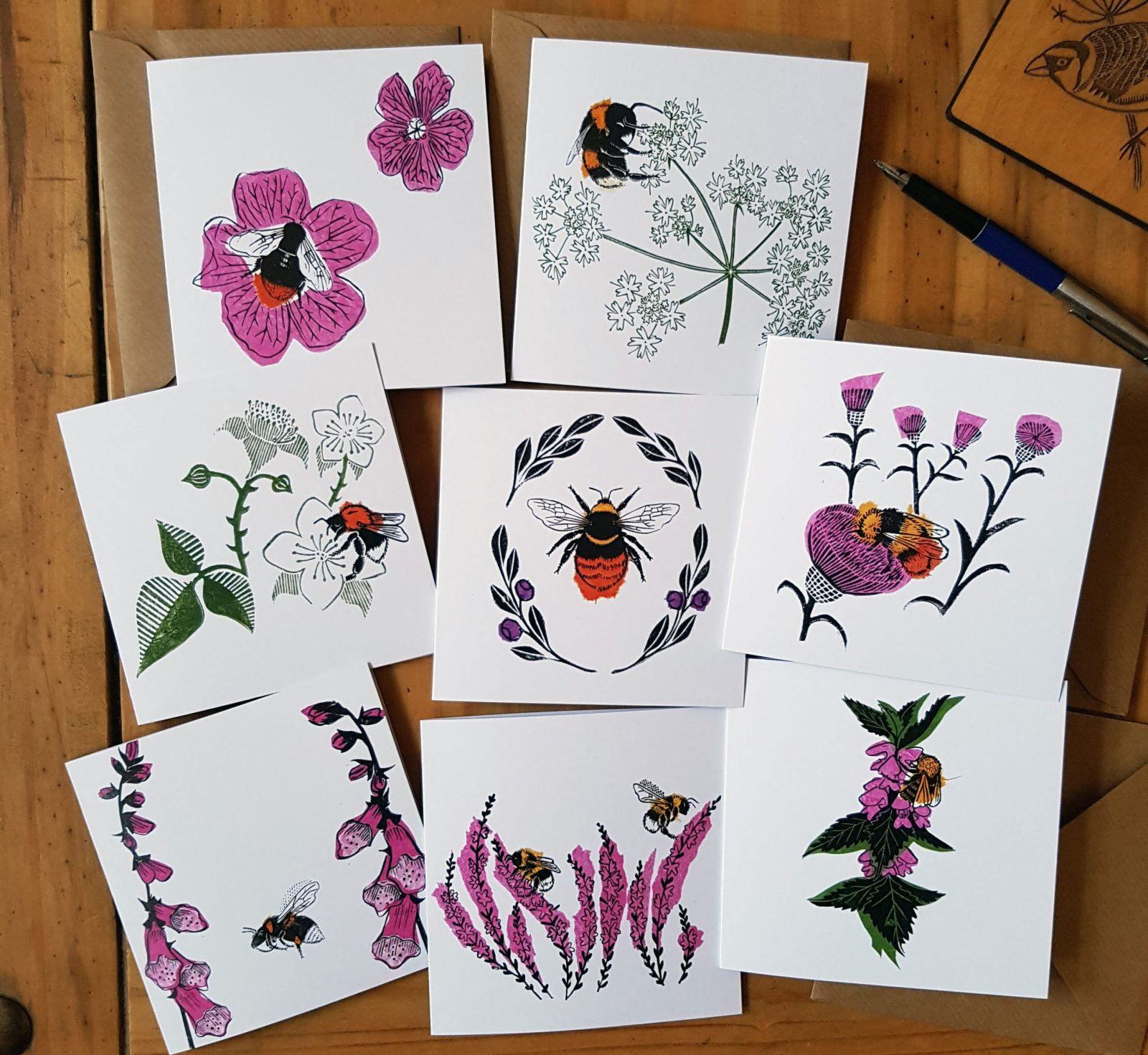 Product image of the Bumblebee of the Peak Recycled Greetings cards