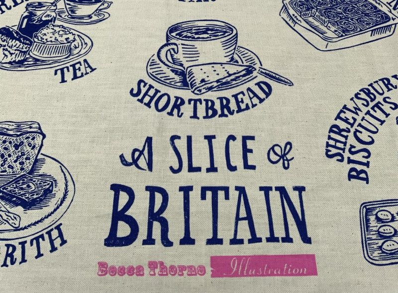 Product image for a slice of britain cotton tea towel