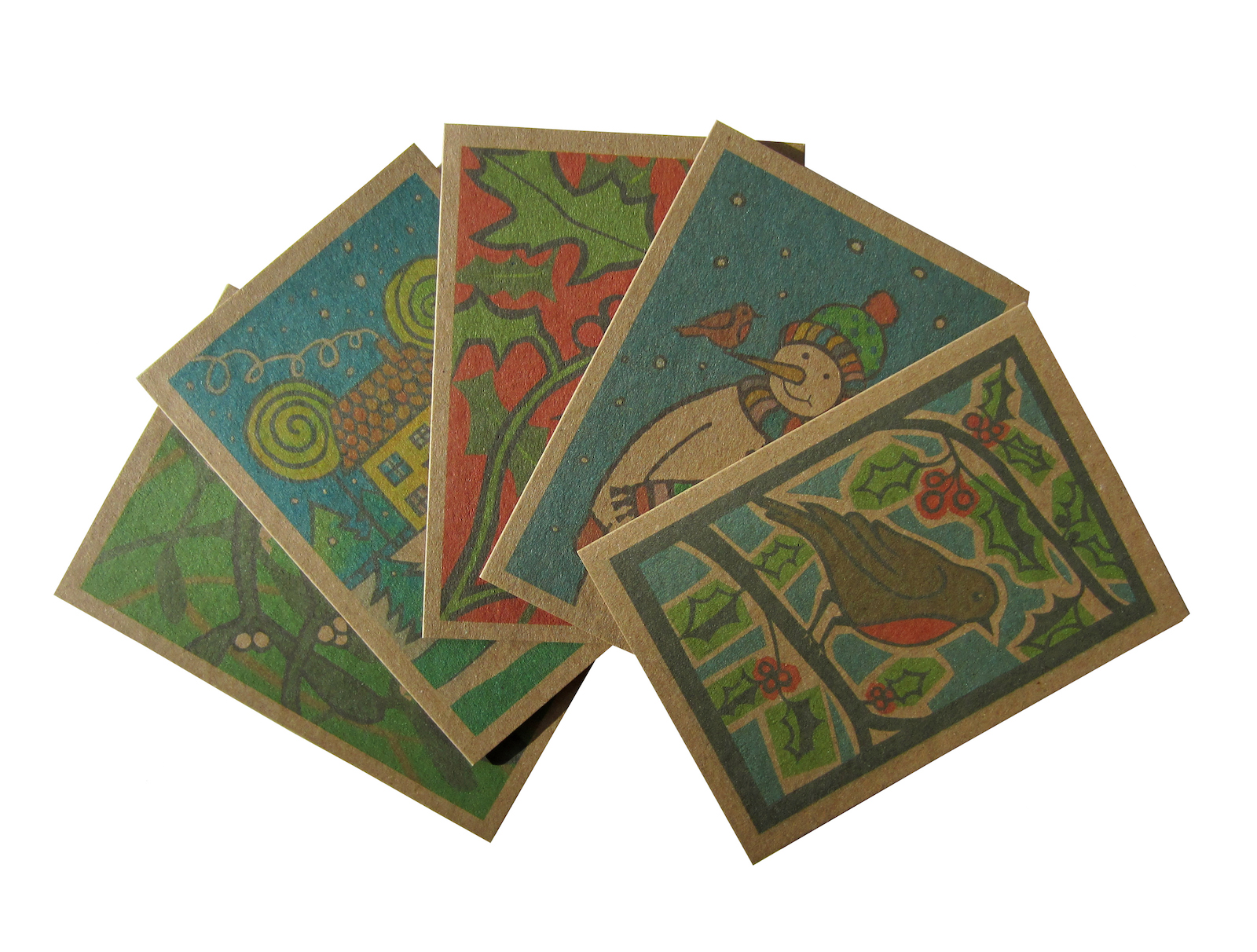 Product image for eco christmas card pack