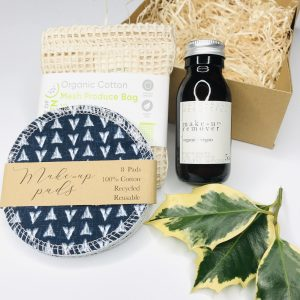 Product image for zero waste organic make up remover gift set