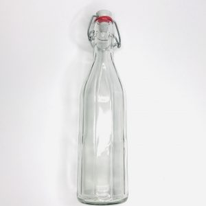 Product image for 500ml Glass bottle with flip top lid