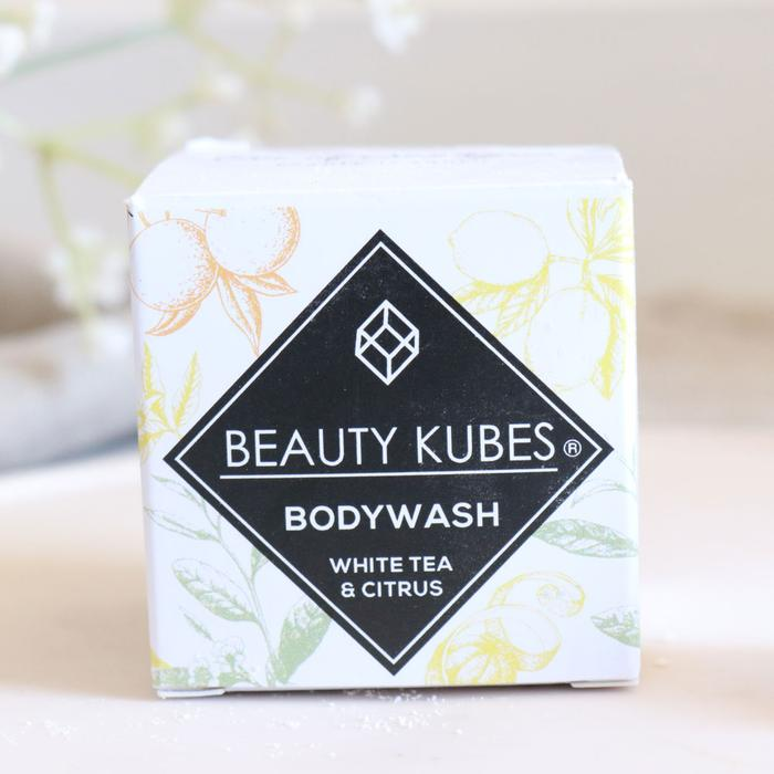Product image of our box of Beauty Kubes White Tea and Citrus travel