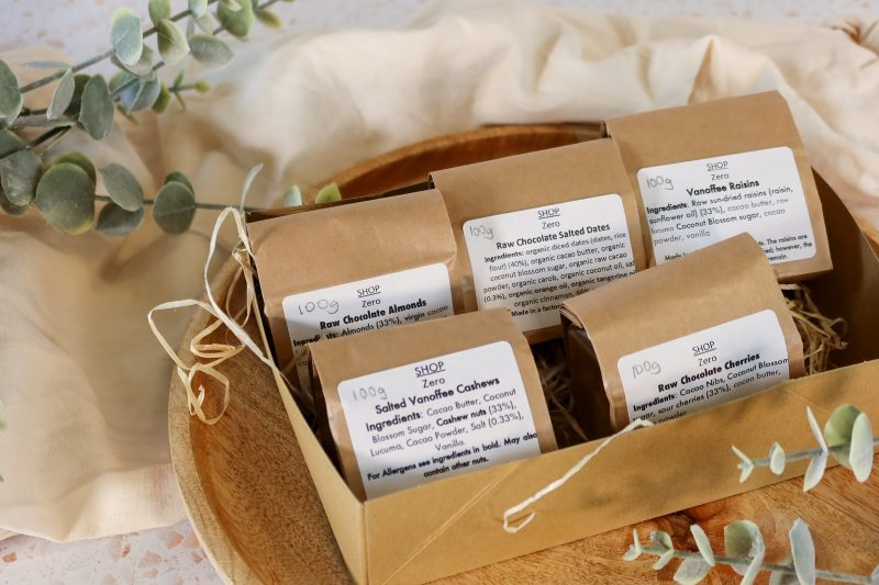 This is an image for zero waste vegan chocolate gift box