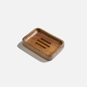 Product image for acacia wood soap dish