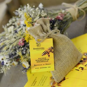 This is the image of our packs of Beebomb wildflower seedbombs.