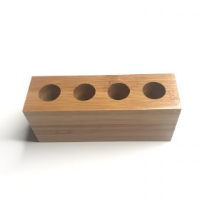 Product image bamboo toothbrush holder family