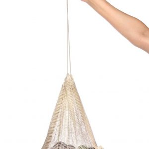 Product image for medium sized mesh, cotton produce bag