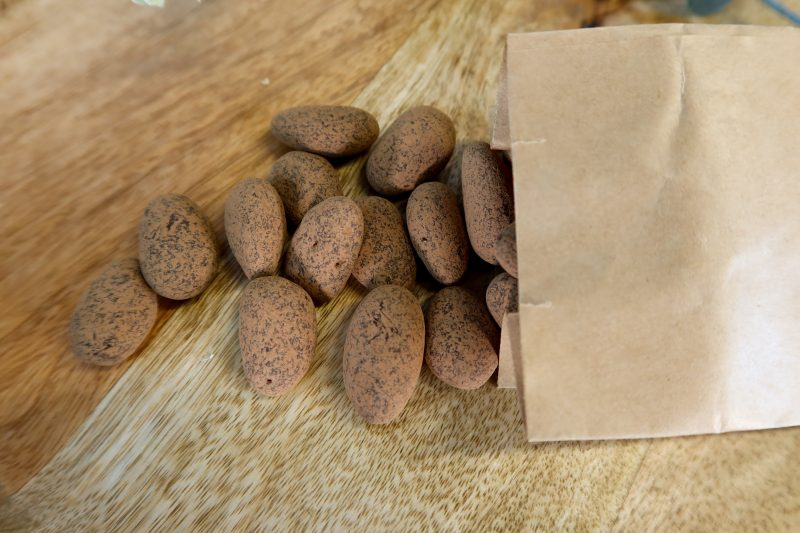 This is an image of the raw chocolate almonds