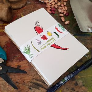 Pack of 8 recycled greetings cards - 'From the Plot' by Becca Thorne