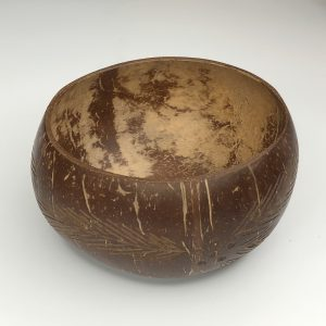 Product image of the etched waste coconut shell bowl
